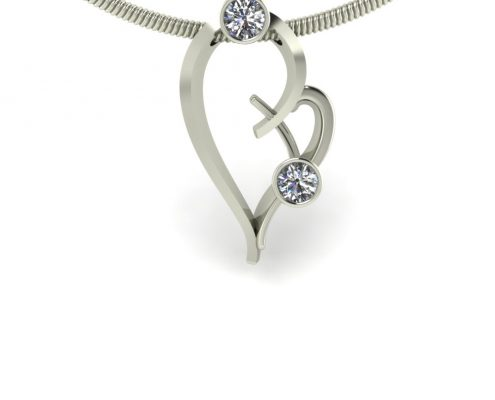 HEART SHAPED DIAMOND PENDANT GP-06