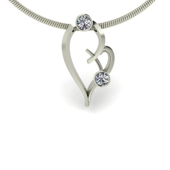 HEART SHAPED DIAMOND PENDANT GP-06