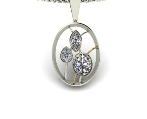 OVAL DIAMOND PENDANT GP-10