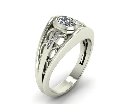 SCROLL DESIGN ENGAGEMENT RING GER-95