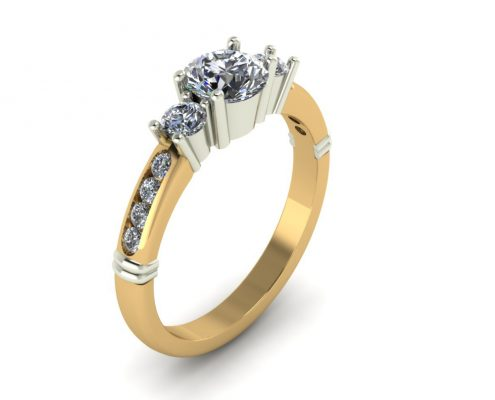 2-TONE ENGAGEMENT RING GER-11