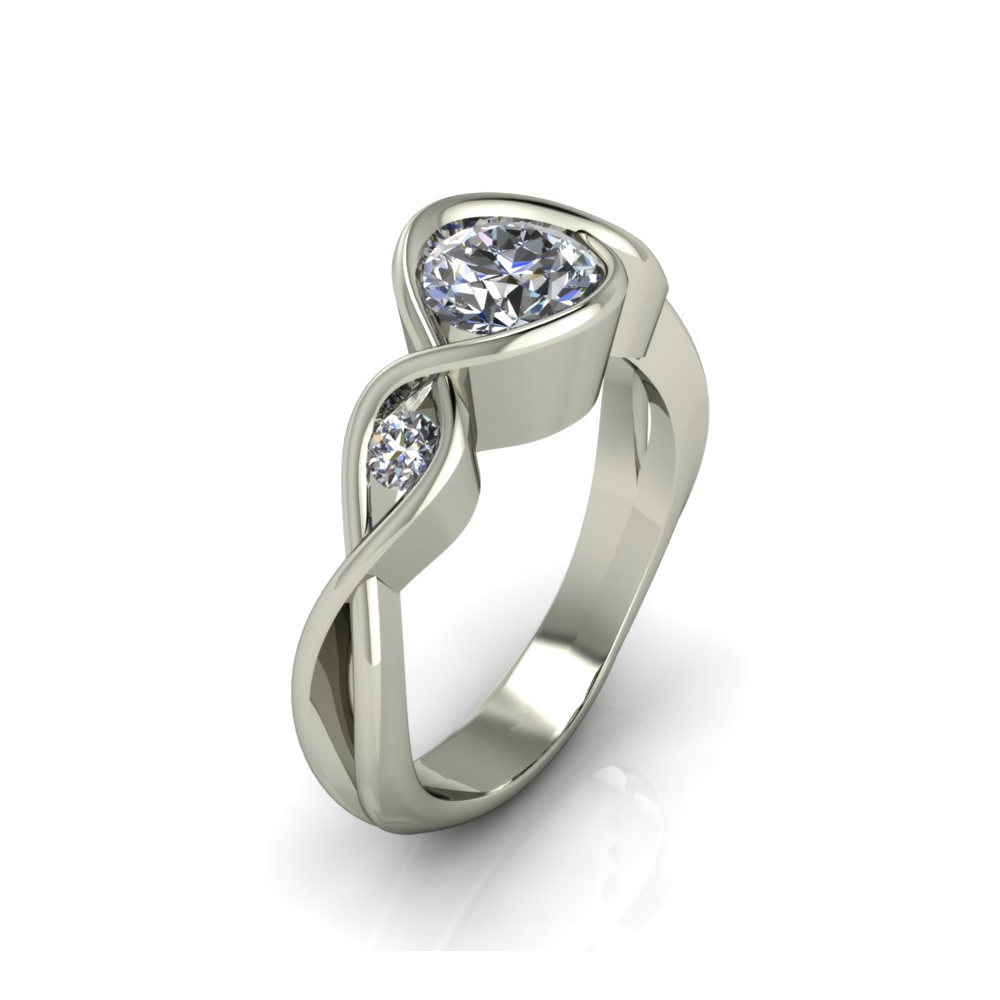 UNIQUE DIAMOND ENGAGEMENT RING GER-13