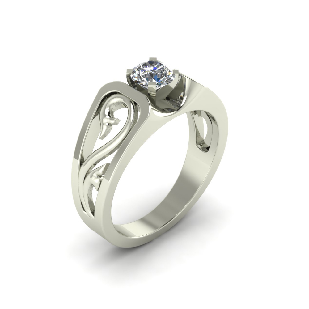 ARTSY SCROLL ENGAGEMENT RING GER-14