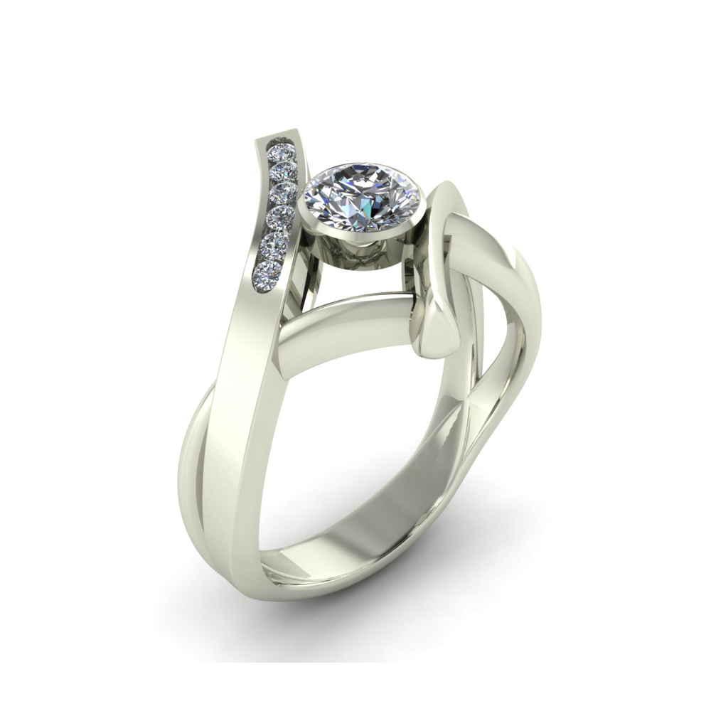 BYPASS STYLE ENGAGEMENT RING GER-16