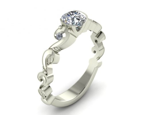 ANTIQUE STYLE ENGAGEMENT RING GER-10