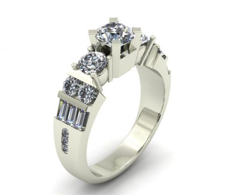 BAR SET ENGAGEMENT RING GER-94