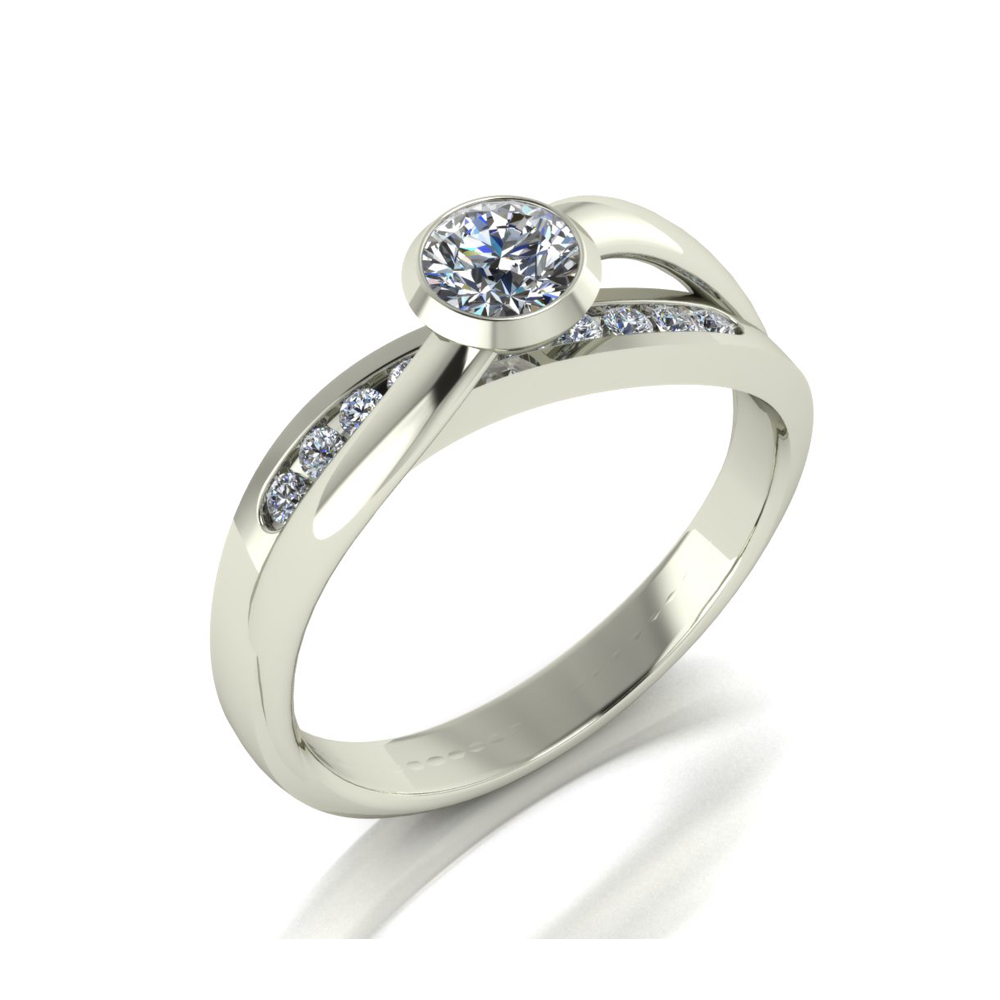 MODERN CROSSOVER ENGAGEMENT RING GER-26