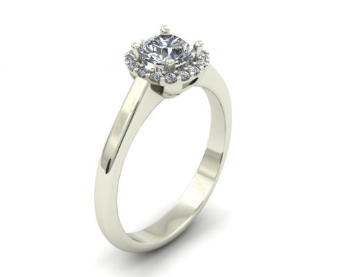 SIMPLE HALO ENGAGEMENT RING GER-47