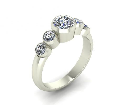 BEZEL SET CUSTOM ENGAGEMENT RING