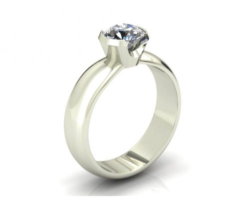 MODERN BEZEL SET CUSTOM ENGAGEMENT RING