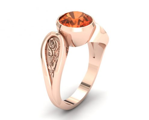 ROSE GOLD ROSE CUSTOM ENGAGEMENT RING