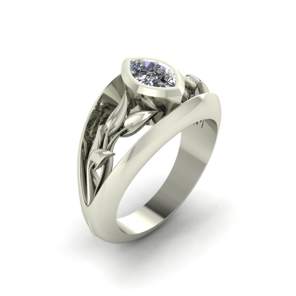 MARQUISE VINES CUSTOM ENGAGEMENT RING