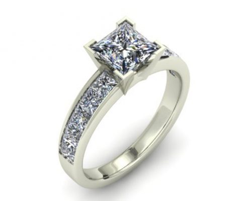 CLASSIC PRINCESS CUT CUSTOM ENGAGEMENT RING