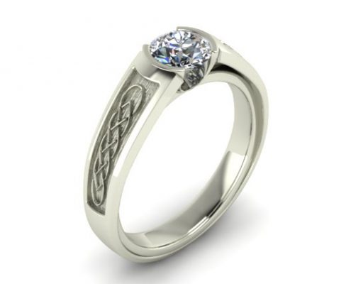 CELTIC PATTERN CUSTOM ENGAGEMENT RING