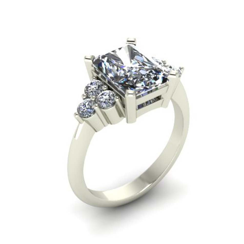 ELEGANT CUSHION CUT CUSTOM ENGAGEMENT RING