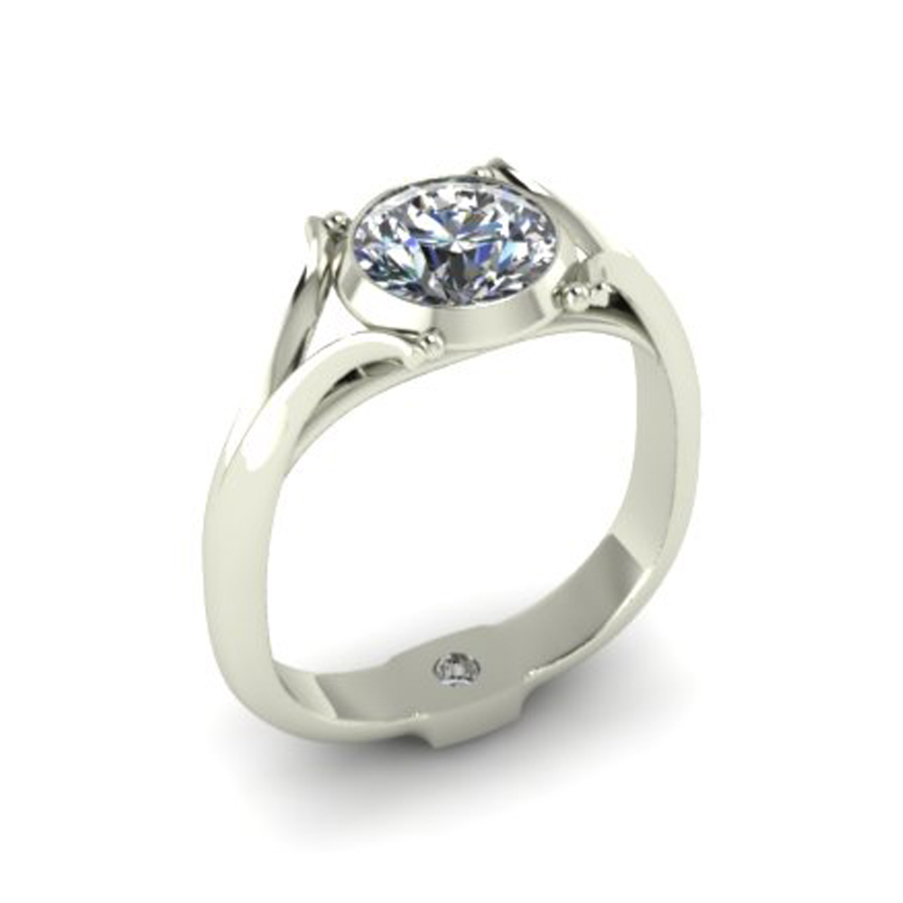 HIDDEN TREASURE CUSTOM ENGAGEMENT RING