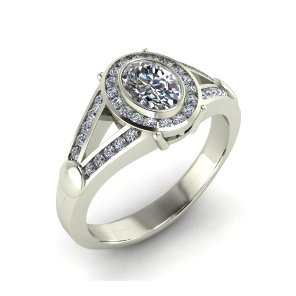 ROUND HALO CUSTOM ENGAGEMENT RING