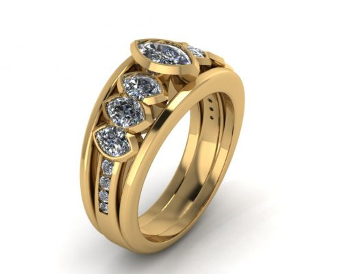 MARQUISE WIDE CUSTOM ENGAGEMENT RING