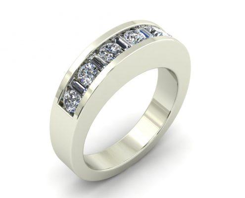 CHANNEL SET CUSTOM WEDDING RING