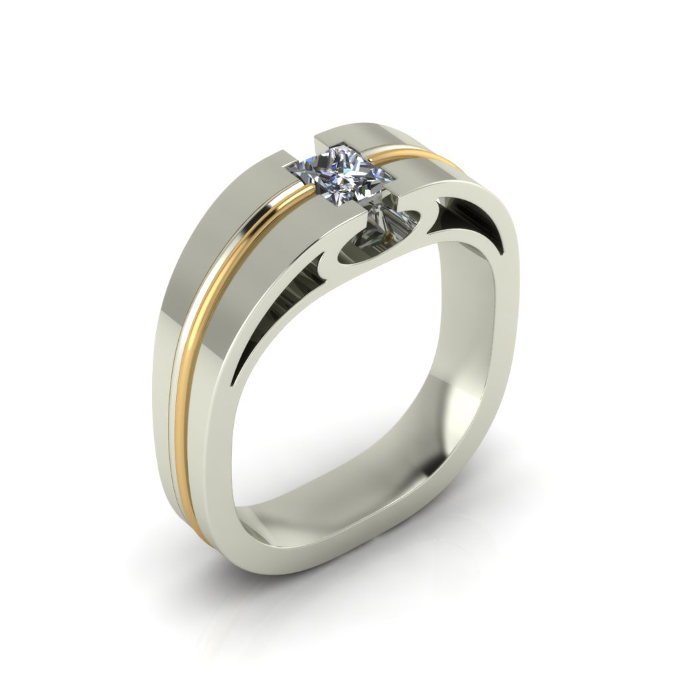 WIDE 2-TONE CUSTOM WEDDING BAND