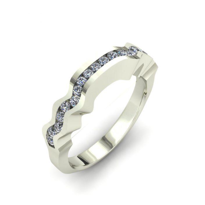 WAVE CUSTOM WEDDING RING