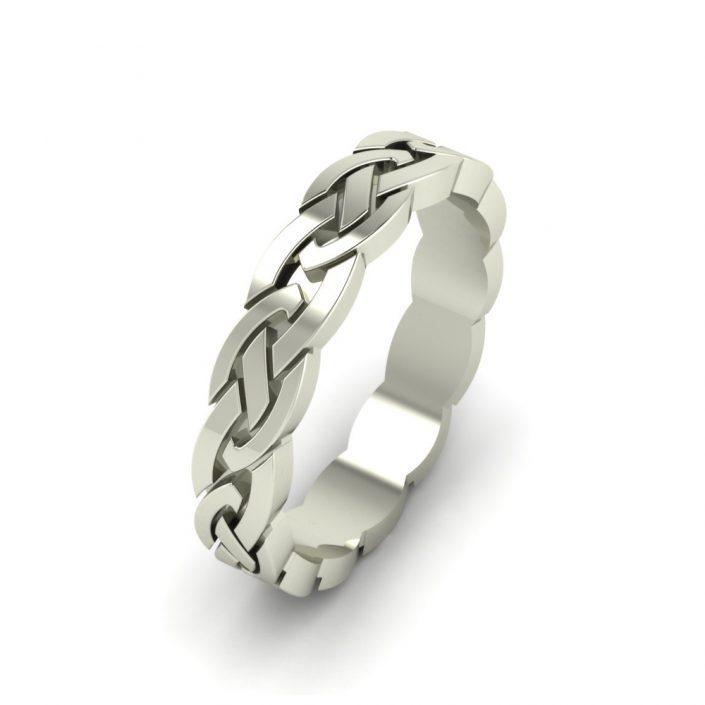 BRAIDED WHITE GOLD CUSTOM WEDDING RING