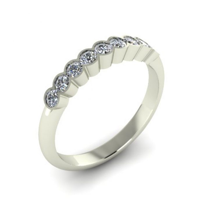 DIAMOND BEZEL SET CUSTOM WEDDING RING