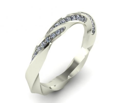 TWISTED DIAMOND CUSTOM WEDDING RING