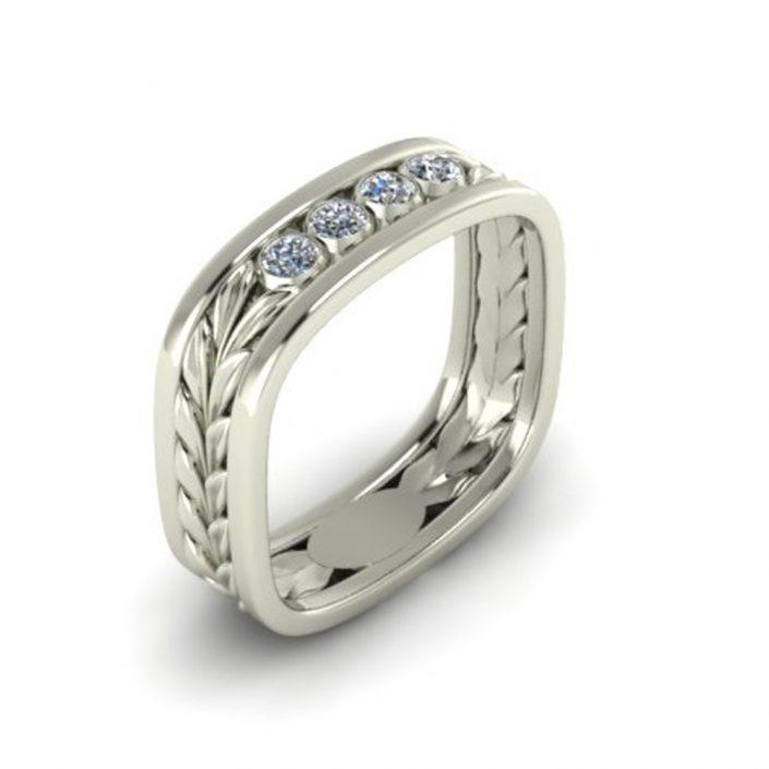 OLIVE LEAF CUSTOM WEDDING RING