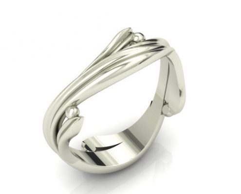 VINE CUSTOM WEDDING RING