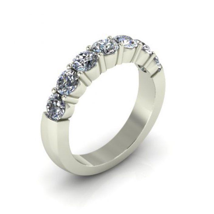 SHARED PRONG CUSTOM DIAMOND WEDDING RING