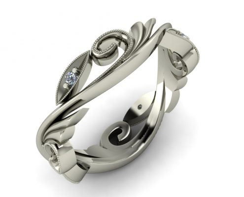 SWIRL VINE CUSTOM WEDDING RING