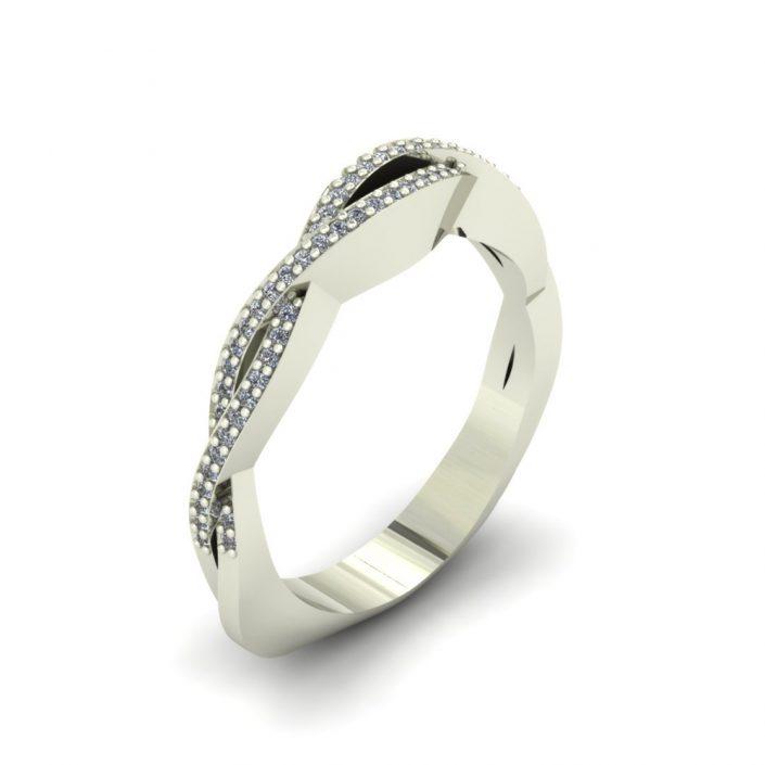 TWISTED DIAMOND CUSTOM WEDDING BAND