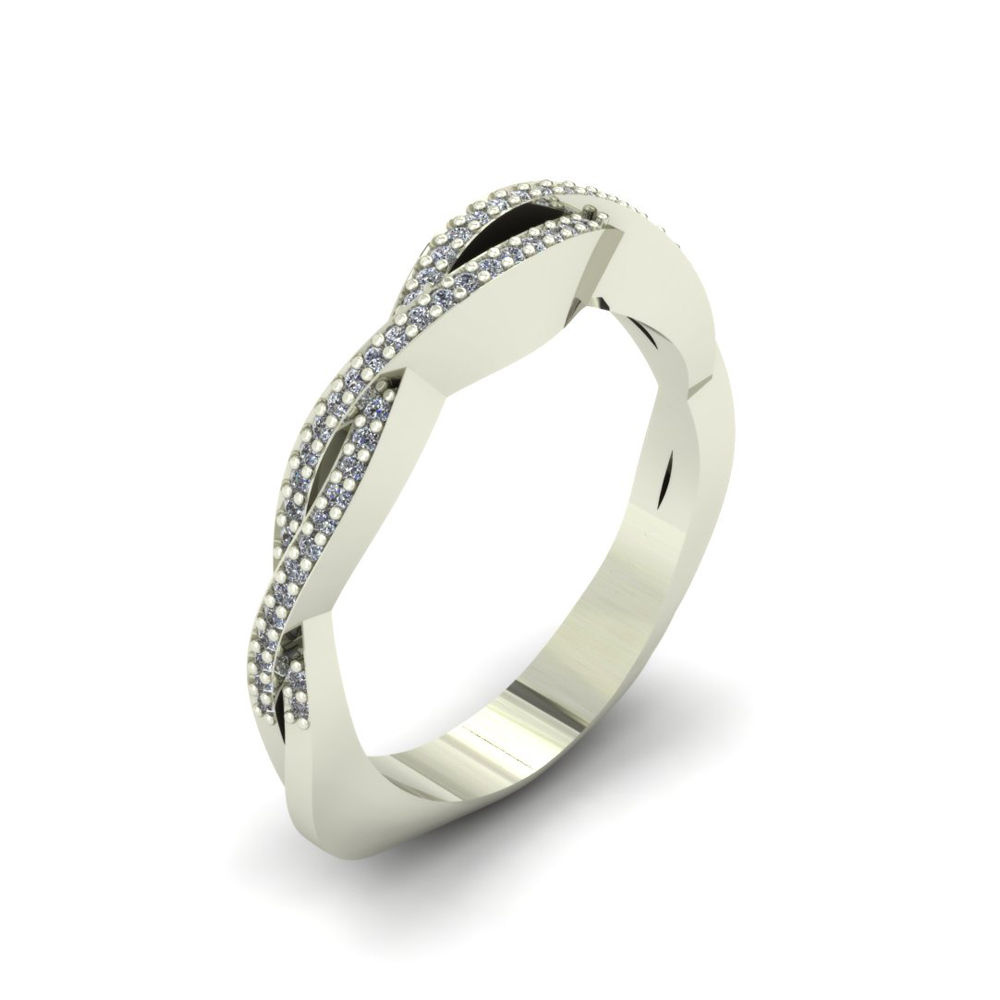 TWISTED DIAMOND CUSTOM WEDDING BAND