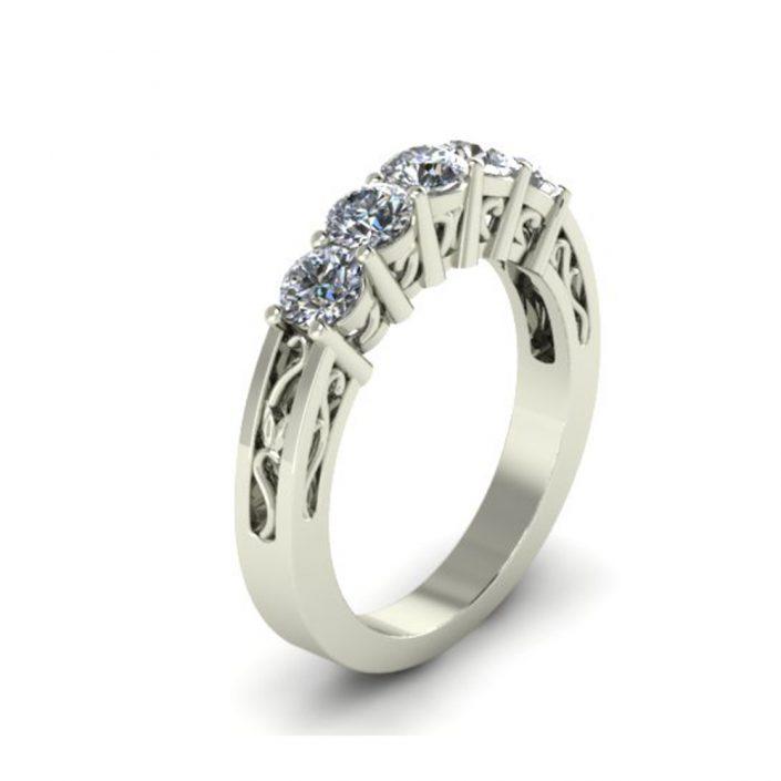 FILIGREE STYLE CUSTOM WEDDING RING