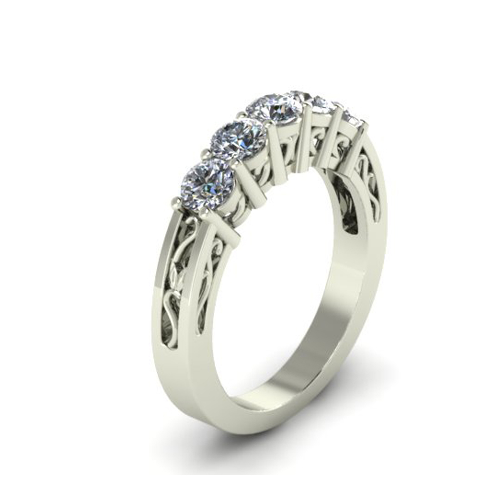 FILIGREE STYLE CUSTOM WEDDING RING