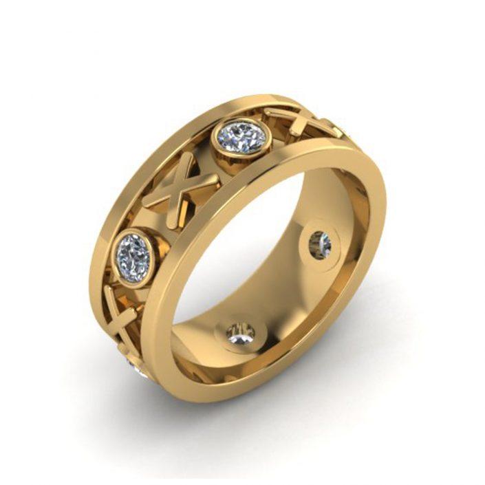 XO DIAMOND CUSTOM WEDDING BAND