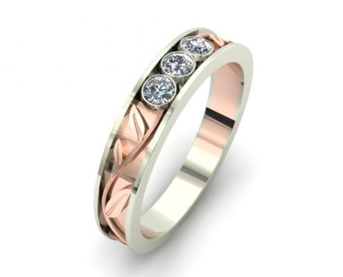 ROSE GOLD VINES CUSTOM WEDDING RING