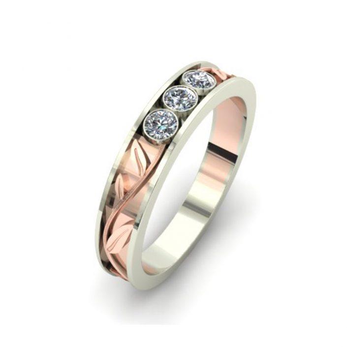 ROSE GOLD VINES CUSTOM WEDDING RING