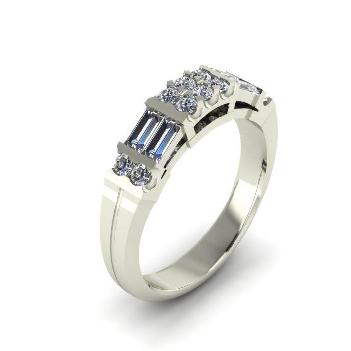 CLASSIC DIAMOND CUSTOM WEDDING RING