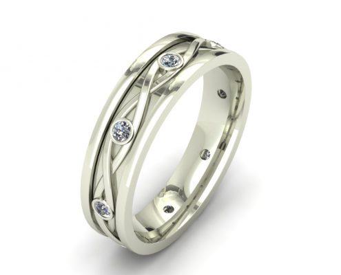 BRAIDED DIAMOND CUSTOM WEDDING RING