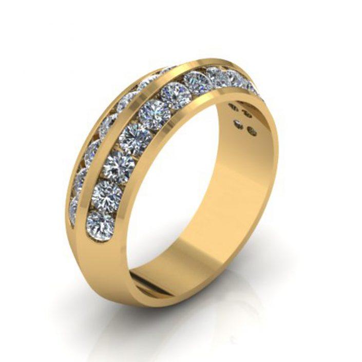 KNIFE EDGE CUSTOM WEDDING RING