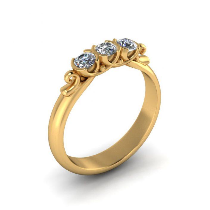 UNIQUE DIAMOND CUSTOM WEDDING BAND