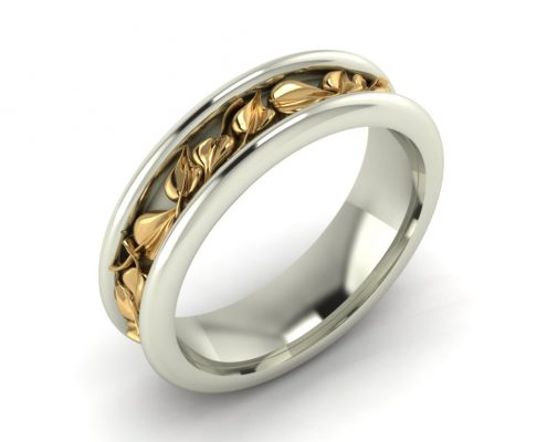BODHI LEAF CUSTOM WEDDING RING