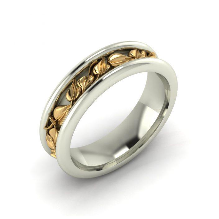 BODHI LEAF CUSTOM WEDDING RING