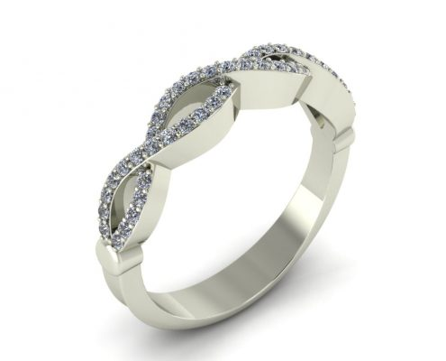 CRISSCROSS CUSTOM WEDDING RING