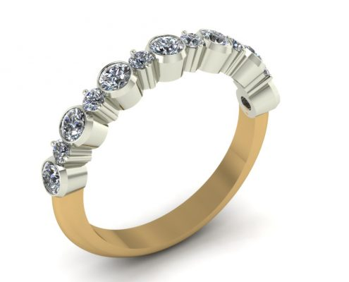 RUFFLE DIAMOND CUSTOM WEDDING RING