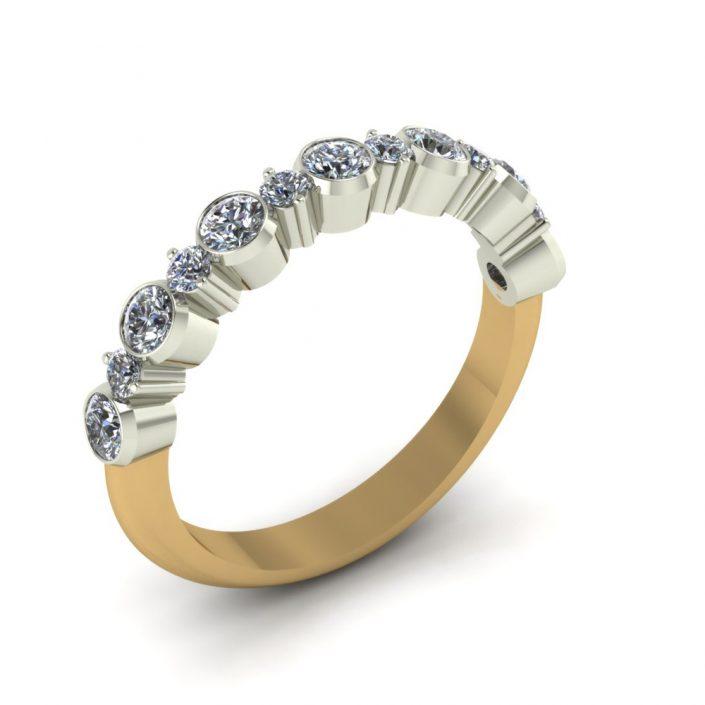 RUFFLE DIAMOND CUSTOM WEDDING RING