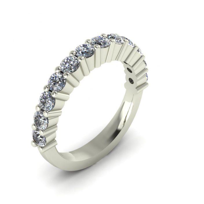 SHARED PRONG DIAMOND CUSTOM WEDDING BAND
