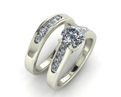 CLASSIC DIAMOND CUSTOM BRIDAL SET